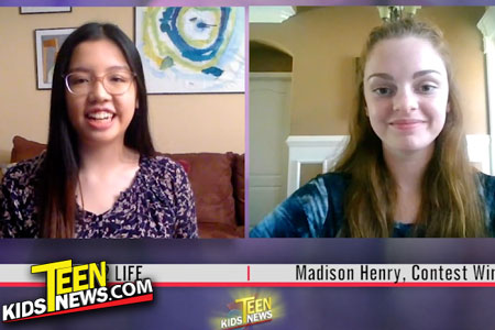 Teen Kids News Anchorwoman and Winner of the Drive2Life Contest