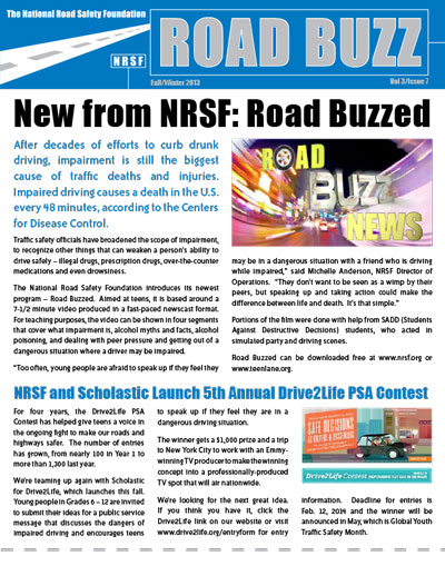 Road Buzz: Fall/Winter 2013 cover