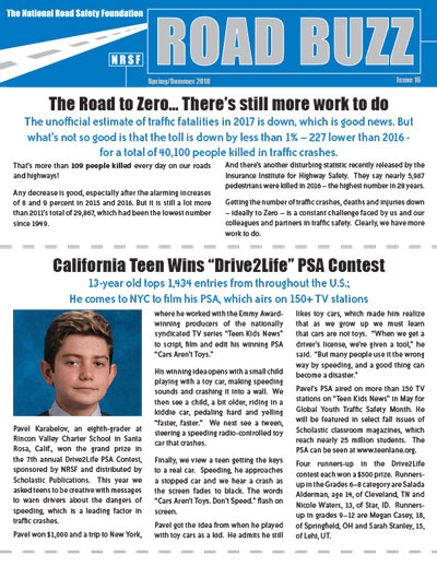 Road Buzz: Spring/Summer 2018 cover