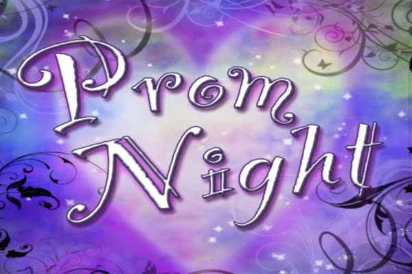 Prom Night on a purple background